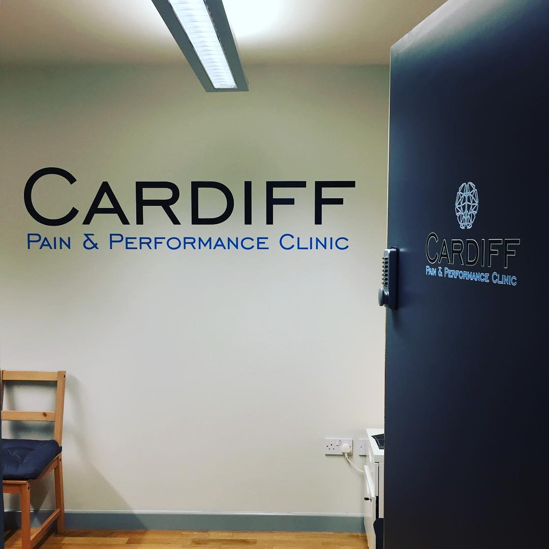 Wall and door graphics finished for @cardiff.pain visit their website for more information! www.cardiffpainandperformance.com