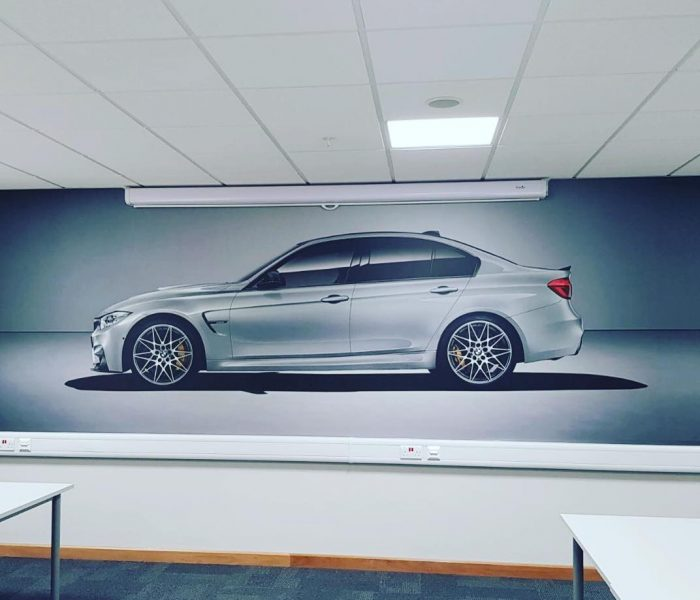 Wall covering for BMW