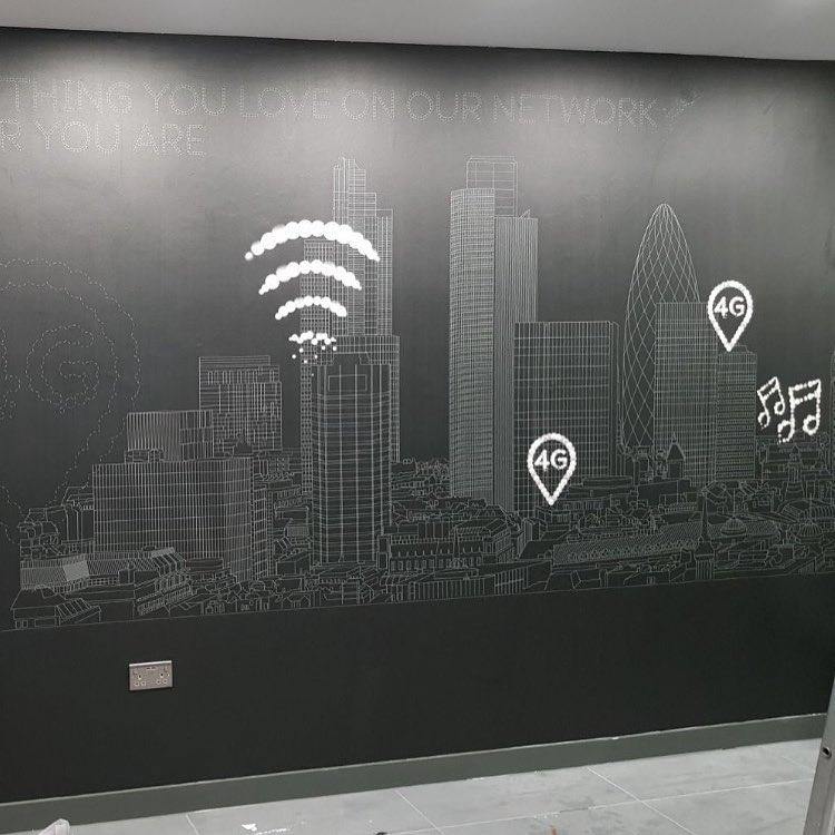 Installation of digital wallpaper