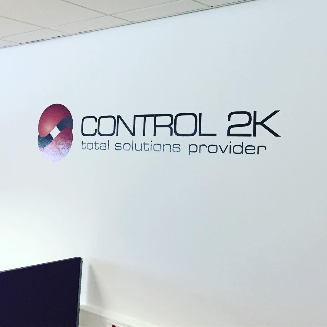 Wall graphics supplied and installed for Control2K Training