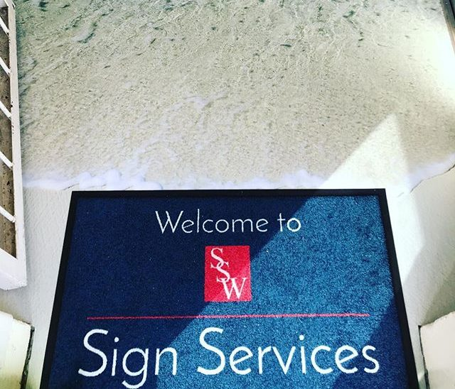 Sign Services Wales Ltd Reception area digitally printed floor graphics
